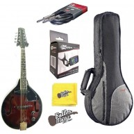 Lucky Penny LPM50E A/E 'A' Style Mandolin in Red Burst w/Gig Bag + More