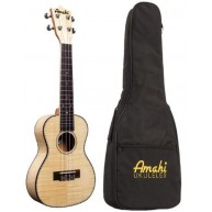 Amahi Model UK550C Concert size Flamed Maple Ukulele with Gig Bag & More Bu