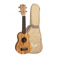 Kremona Flight Series DUS-322 Soprano Size Zebrawood Ukulele w/Bag - NEW