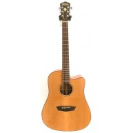 Washburn WD160SWCE Dreadnought Solid Wood Acoustic Electric Guitar
