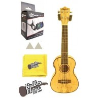 Amahi Concert UK770C-EQ Spalted Maple Acoustic Electric Ukulele With Bag Bu