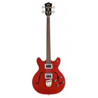 Guild Starfire II Electric Semi Hollow Bass Guitar in Red with Case-Blem #N