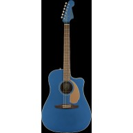 Fender Redondo Player Model Electric Acoustic Guitar in Belmont Blue - AWES