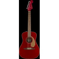 Fender Malibu Player Model Electric Acoustic Guitar in Candy Apple Red - DE