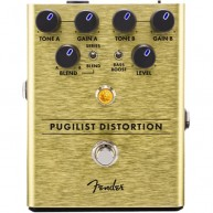 Genuine FENDER™ Pugilist Distortion Pedal , Solid Aluminum Stomp Box #02345