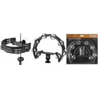 Stagg Model TAB-D-BK - 16 Jingle Mountable Tambourine For Drum Set - Black
