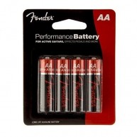 Fender Performance AA Alkaline Batteries -Great for Pedals, Active Guitars,