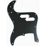 Retro Parts RP106B - Three Ply Black Pickguard for Precision Style Bass Gui