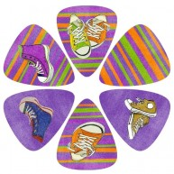 Pack of 6 Perri's Gym Shoes Guitar Picks in Collectible Clamshell #LP-PL20