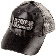 Genuine Fender Black Clear Coat Trucker Hat - One Size Fits All #9106633306