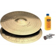 Paiste Model 4006414 - 14 Inch Signature Dark Crisp Hi-Hats - Pair - Bundle