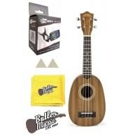 Lanikai MA-P Mahogany Pineapple Shape Soprano Ukulele with Gig Bag & More
