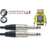 Yellow 20' Neutrik Tweed Cloth Guitar Amp Cable Cord Stagg # NGC6VTR YL