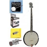Lucky Penny B5-DL Deluxe 5 String Resonator Banjo with Martin Strings and M