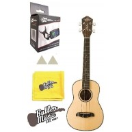 Oscar Schmidt OU4 - 4 String Tenor Size Spruce Top Uke w/Clip-on Tuner and