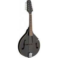 """Stagg Model M20 BLK """"A"""" Style Black Finish Bluegrass Mandolin with geared t"""