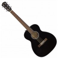 Fender CT-60S BLK Solid Spruce Top Black Acoustic Travel Guitar w/Mahogany