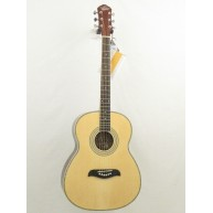 Oscar Schmidt Model OF2 - Natural Finish Steel String Acoustic Folk Size Gu