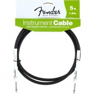 Genuine Fender® 5' Performance Series Instrument Cable Black Rubber # 09908