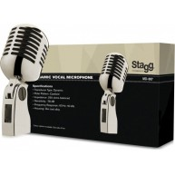 Stagg MD-007CRH - Old School Grill Style Chrome Microphone w/Cable and Case