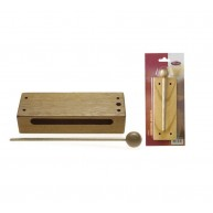 Stagg Model WB-226S Small, Durable Wood Block Percussion Instrument with Ma