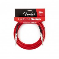 Fender® 20'  California Series Instrument Cable Candy Apple Red # 099052000