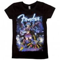 Fender Anime Graphic Short Sleeve T-Shirt - Girls Small 6 Years #9103084306