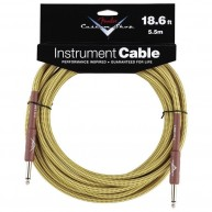 Genuine Fender® 18.6' Custom Shop Tweed Instrument Cable  # 0990820030 - 18