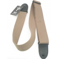 Perri's Leathers PC2P-1647 COTTON guitar strap with Deluxe glove leather en