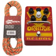 Orange Two Stroke Boost EQ Effect Pedal Footswitch w/Effin Tweed Cable - Ne