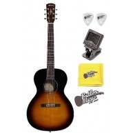 Alvarez Delta00 TSB Parlor Size Acoustic Guitar w/Clip-on Tuner + More!!!