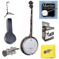 Oscar Schmidt OB5 5-String Resonator Banjo with Case, Strings, PLUS More Bu