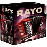 Rayo by Hohner 31 Button Key Accordion in keys of GCF complete with Straps