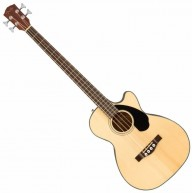 Fender CB-60SCE Natural 4-String Solid Top Acoustic Electric Bass Guitar -