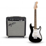 Squier Strat Pack SSS Electric Guitar with Fender Frontman 10G Combo Amp Bl