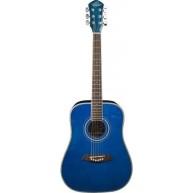 Oscar Schmidt OGHSTBL-A 1/2 Size Blue Finish Acoustic Guitar Safe for Expor