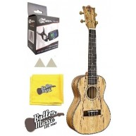 Snail by Amahi Spalted Maple Concert Ukulele w/Gig Bag, Tuner + More - #UKC