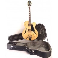 Washburn J7VNK Natural Hollow Body Jazz Guitar with Bigsby & HARDSHELL Case