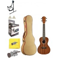 Lanikai Model MA-C Mahogany Concert Ukulele with Gold Tweed Hard Case Bundl