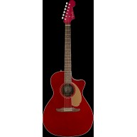 Fender Newporter Player Model Electric Acoustic Guitar in Candy Apple Red