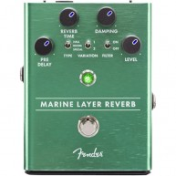 Genuine FENDER Marine Layer Reverb Pedal , Solid Aluminum Stomp Box #023453