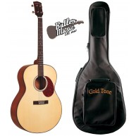 Gold Tone Model TG-10 Natural 4-String Tenor Acoustic Guitar with Gig Bag