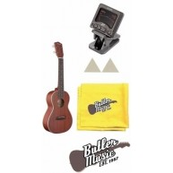 Stagg Model UC70S Solid MahoganyTop Concert Ukulele - with Tuner and More !