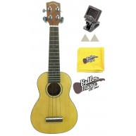 Lucky Penny LP286S Soprano Ukulele with Tuner Felt picks and Polish cloth -