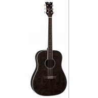 Dean AXS Dread Quilt Acoustic Guitar Transparent Black AX DQA TBK - NEW