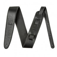 Genuine Fender 2.5-Inch Artisan Leather Strap, Black #0990622006 - NEW