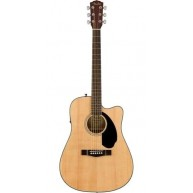 Fender CD-60SCE Acoustic-Electric Dreadnought Guitar, Gloss Natural Finish