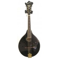 Washburn M1SDLB A-Style Solid Spruce Top Mandolin in Black Finish