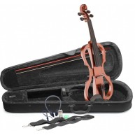 Lucky Penny EVX/VBR Violin Brown 4/4 silent violin electric violin Bundle