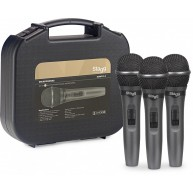 Stagg SDMP15-3 - Set of 3 Dynamic Handheld Vocal Microphones w/Case and Cab